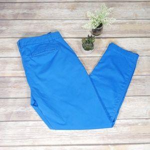 Gap Straight Broken In Khakis Blue Size 12